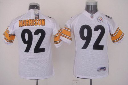 James Harrison #92 White Pittsburgh Steelers Youth Jersey