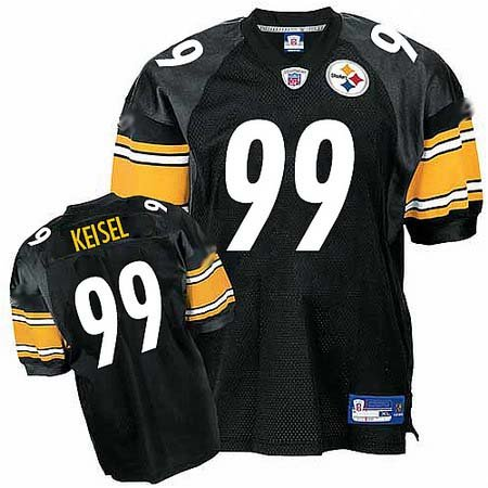 Brett Keisel #99 Black Pittsburgh Steelers Youth Jersey