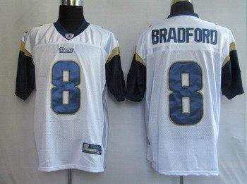 Sam Bradford #8 White St. Louis Rams Youth Jersey