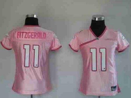Larry Fitzgerald #11 Pink Arizona Cardinals Women's Jersey