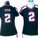 Matt Ryan #2 Black Atlanta Falcons Women's Jersey