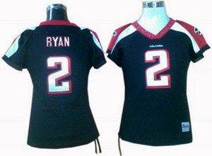 Matt Ryan #2 Black Atlanta Falcons Women's Jersey