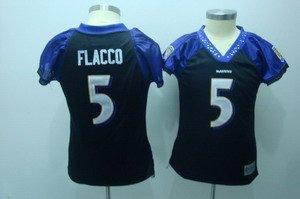 Joe Flacco #5 Black Baltimore Ravens Women's Jersey