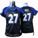 Ray Rice #27 Black Baltimore Ravens Women's Jersey