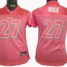 Ray Rice #27 Pink Baltimore Ravens Women's Jersey