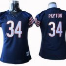 Walter Payton #34 Navy Chicago Bears Women's Jersey