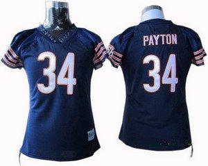 Walter Payton #34 Navy Chicago Bears Women's Jersey
