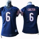 Jay Cutler #6 Navy Chicago Bears Women's Jersey