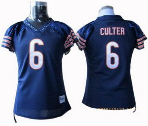 Jay Cutler #6 Navy Chicago Bears Women's Jersey