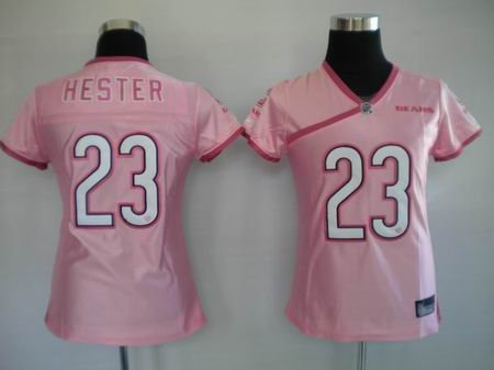 Devin Hester #23 Pink Chicago Bears Women's Jersey