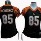 Chad Ochocinco #85 Black Cincinnati Bengals Women's Jersey