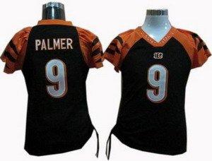 Carson Palmer #9 Black Cincinnati Bengals Women's Jersey