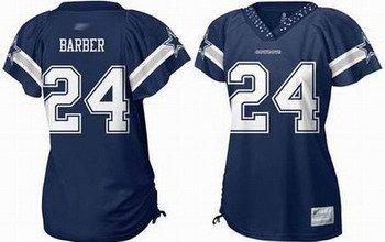 Marion Barber #24 Navy Dallas Cowboys Women's Jersey