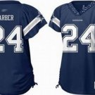 Marion Barber #24 Navy Dallas Cowboys Women's Jersey