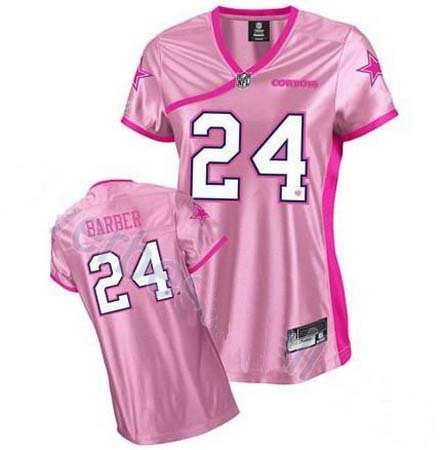 Marion Barber #24 Pink Dallas Cowboys Women's Jersey