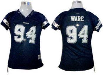 DeMarcus Ware #94 Navy Dallas Cowboys Women's Jersey