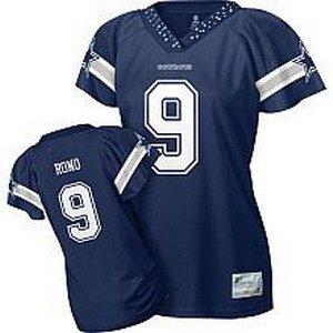 Tony Romo #9 Navy Dallas Cowboys Women's Jersey
