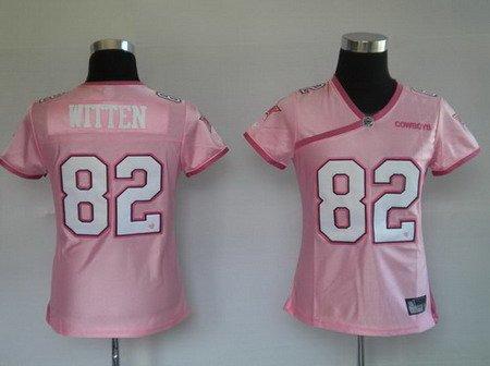 Jason Witten #82 Pink Dallas Cowboys Women's Jersey