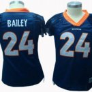 Champ Bailey #24 Blue Denver Broncos Women's Jersey