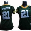 Charles Woodson #21 Green Green Bay Packers Women's Jersey