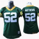 Clay Matthews #52 Green Green Bay Packers Women's Jersey