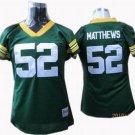 Clay Matthews #52 Green Green Bay Packers Women's Jersey
