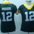 Aaron Rodgers #12 Green Green Bay Packers Women's Jersey