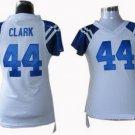 Dallas Clark #44 White Indianapolis Colts Women's Jersey