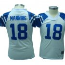 Peyton Manning #18 White Indianapolis Colts Women's Jersey