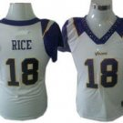 Sidney Rice #18 White Minnesota Vikings Women's Jersey