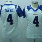 Brett Favre #4 White Minnesota Vikings Women's Jersey