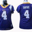 Brett Favre #4 Purple Minnesota Vikings Women's Jersey