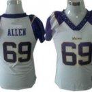 Jared Allen #69 White Minnesota Vikings Women's Jersey