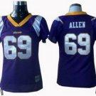 Jared Allen #69 Purple Minnesota Vikings Women's Jersey