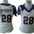 Adrian Peterson #28 White Minnesota Vikings Women's Jersey