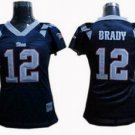Tom Brady #12 Navy New England Patroits Women's Jersey