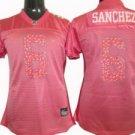 Mark Sanchez #6 Pink New York Jets Women's Jersey