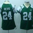 Darrelle Revis #24 Green New York Jets Women's Jersey