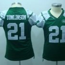 LaDanian Tomlinson #21 Green New York Jets Women's Jersey