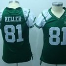 Dustin Keller #81 Green New York Jets Women's Jersey