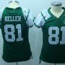 Dustin Keller #81 Green New York Jets Women's Jersey