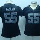 Rolondo McClain #55 Black Oakland Raiders Women's Jersey