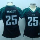 LeSean McCoy #25 Black Philadelphia Eagles Women's Jersey