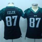 Brent Celek #87 Black Philadelphia Eagles Women's Jersey