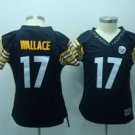 Mike Wallace #17 Black Pittsburgh Steelers Women's Jersey