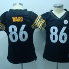 Hines Ward #86 Black Pittsburgh Steelers Women's Jersey