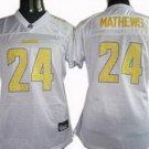 Ryan Matthews #24 White San Diego Chargers Women's Jersey