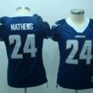 Ryan Matthews #24 Navy San Diego Chargers Women's Jersey