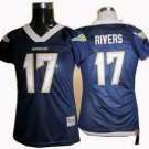 Phillip Rivers #17 Navy San Diego Chargers Women's Jersey