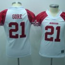 Frank Gore #21 White San Francisco 49ers Women's Jersey